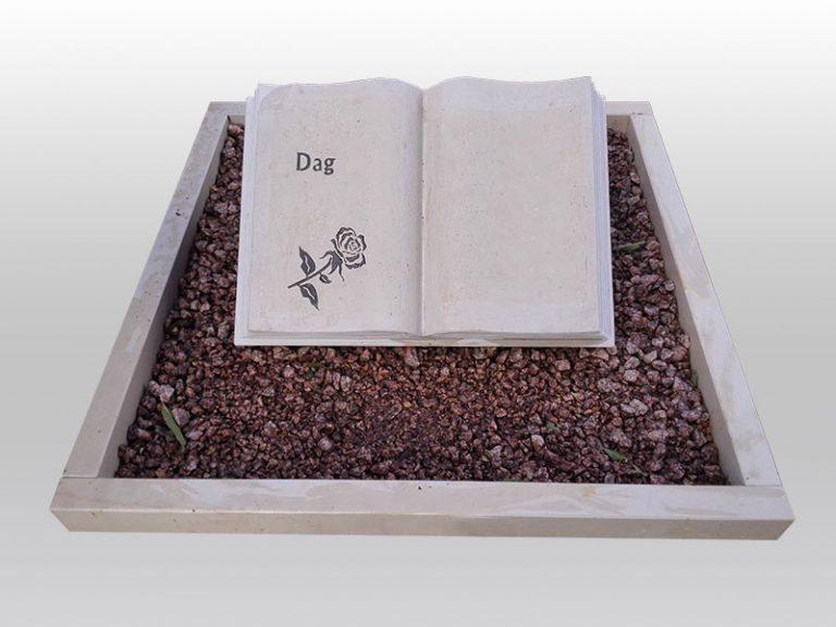grafmonument, boek monument, atlantic beige, grind, jan reek natuursteen