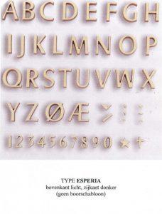 letters, brons, lettertype, esperia, jan reek natuursteen