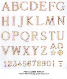 letters, brons, lettertype, elsevier, jan reek natuursteen