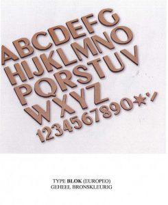 letters, brons, lettertype, blok, jan reek natuursteen
