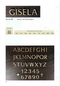 letters, brons, lettertype, gisela, jan reek natuursteen