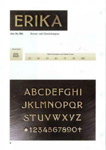 letters, brons, lettertype, erika, jan reek natuursteen