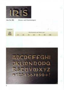 letters, brons, lettertype, iris, jan reek natuursteen