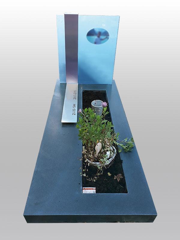grafmonument, glas, rvs, belgisch hardsteen, jan reek natuursteen
