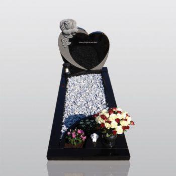 grafmonument, graniet, hart, roos, jan reek natuursteen
