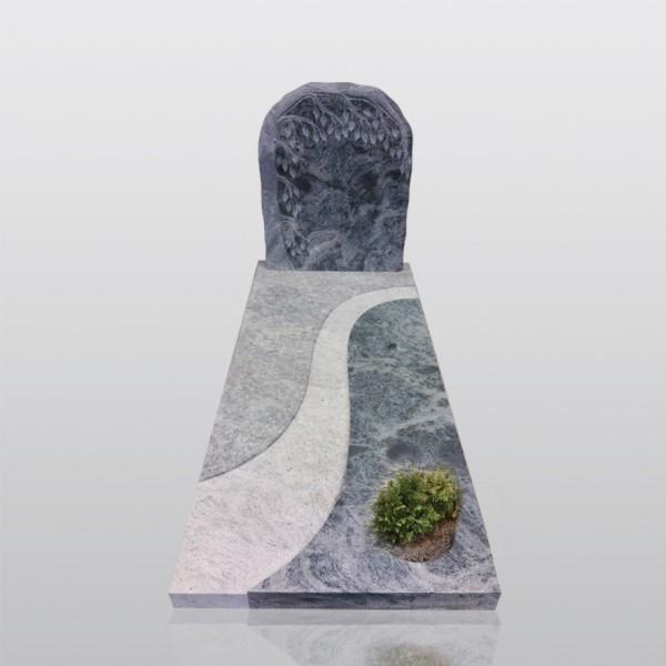 grafmonument, boom, groen graniet, jan reek natuursteen