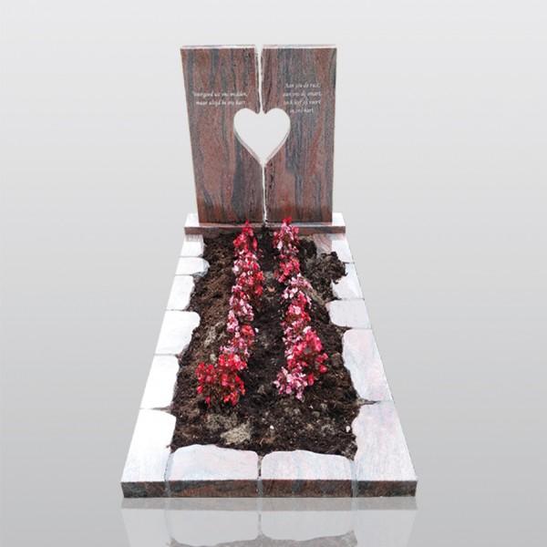 grafmonument, hart, juperana, plantvak, jan reek natuursteen