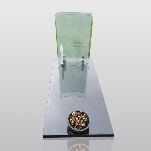 grafmonument, glas, melkglas, graniet, jan reek natuursteen