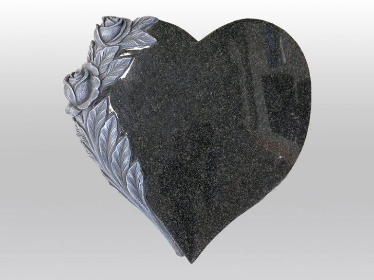 grafmonument, graniet, handgehakt, roos , hart, jan reek natuursteen
