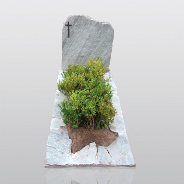 grafmonument, kwartsiet, ruw monument, plantvak, jan reek natuursteen