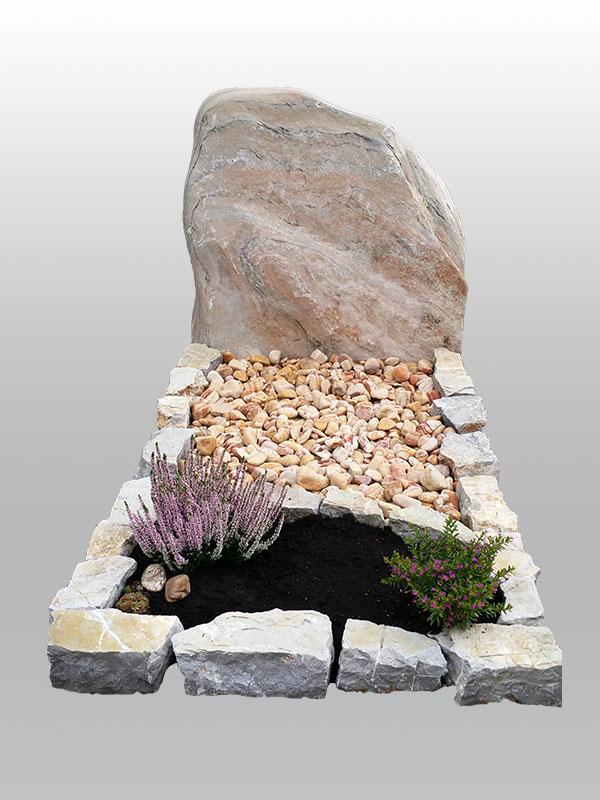 grafmonument, ruw monument, natuurlijk monument, kiezel, jan reek natuursteen