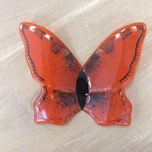 glas, vlinder, accessoires, rood, jan reek natuursteen